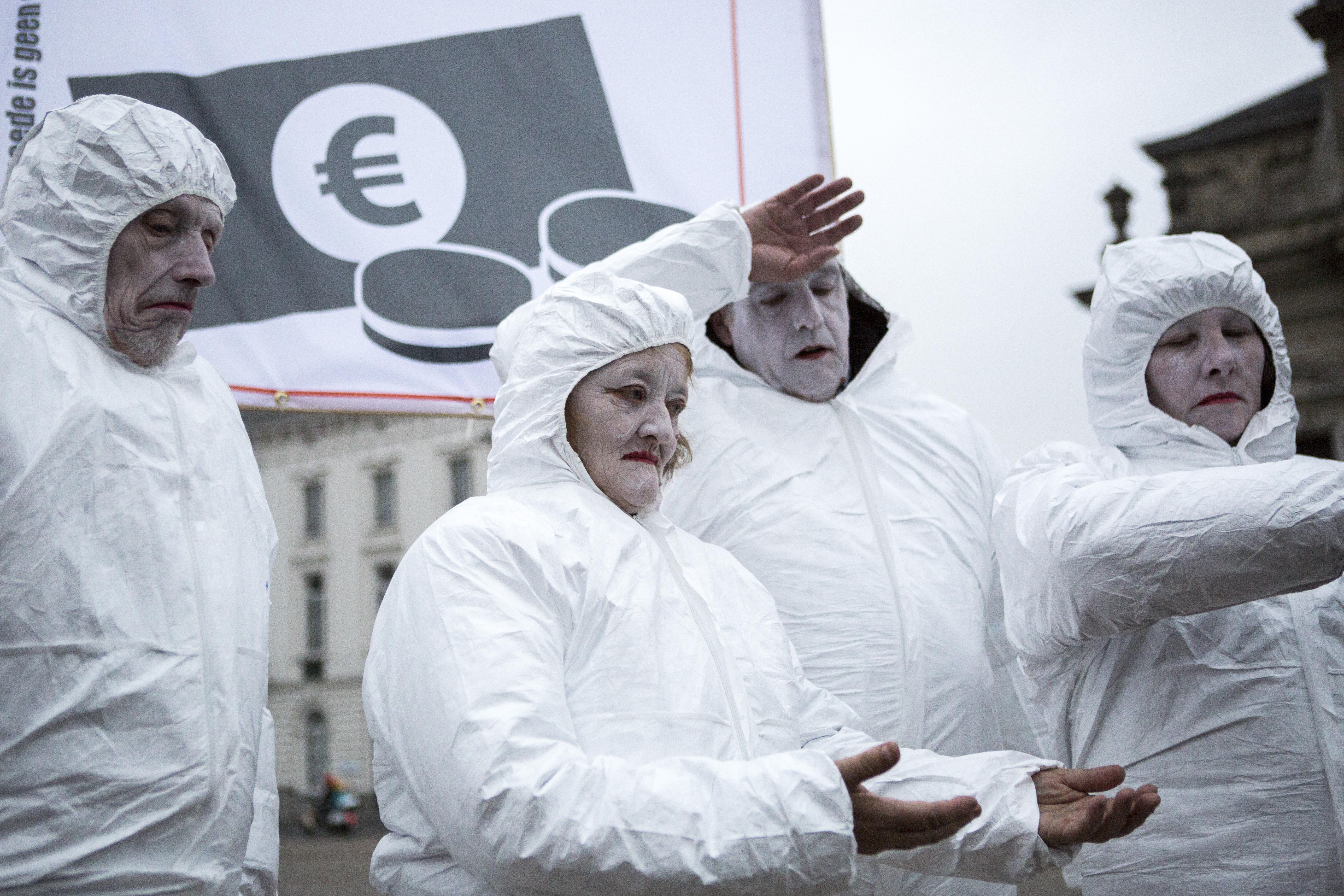 Mensenrechtentheater tijdens Werelddag van verzet tegen Armoede in Gent, 2014