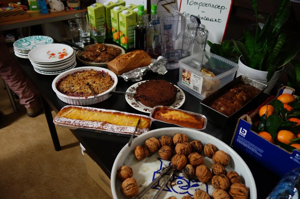Taart, cake, walnoten in overvloed